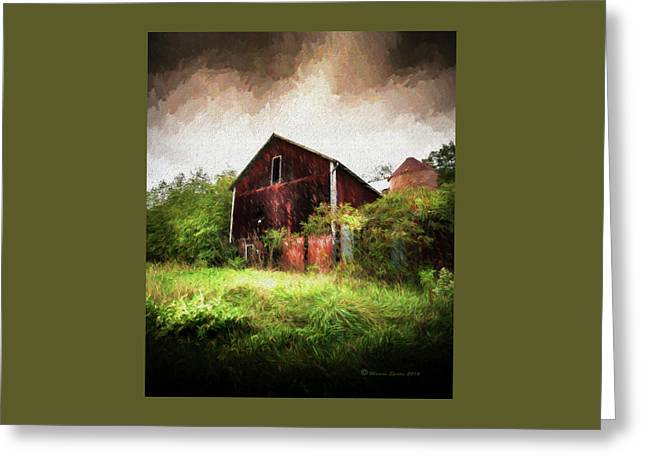 Hillside Barn Greeting Card