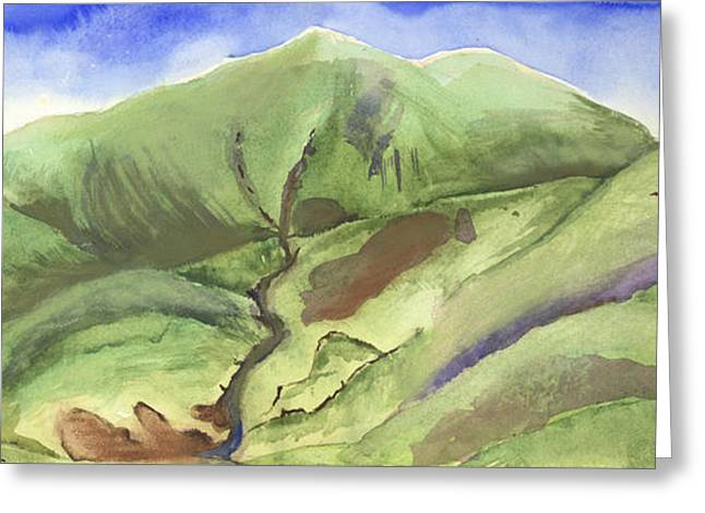 Hillside Panorama Greeting Card