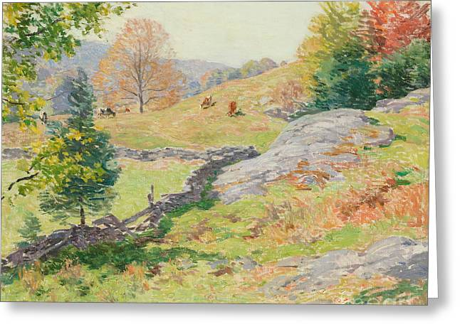 Hillside Pastures, September, 1922 Greeting Card
