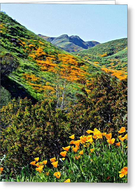 Hillside Poppies - Impressions One Greeting Card