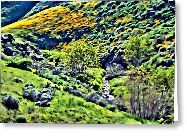 Hillside Poppies - Impressions Two Greeting Card