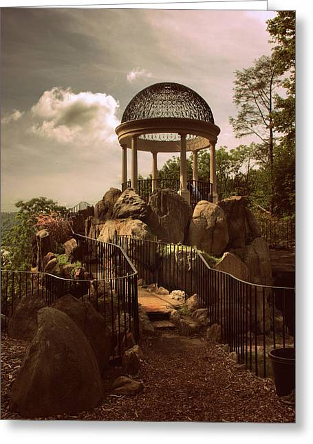 Hilltop Temple Greeting Card