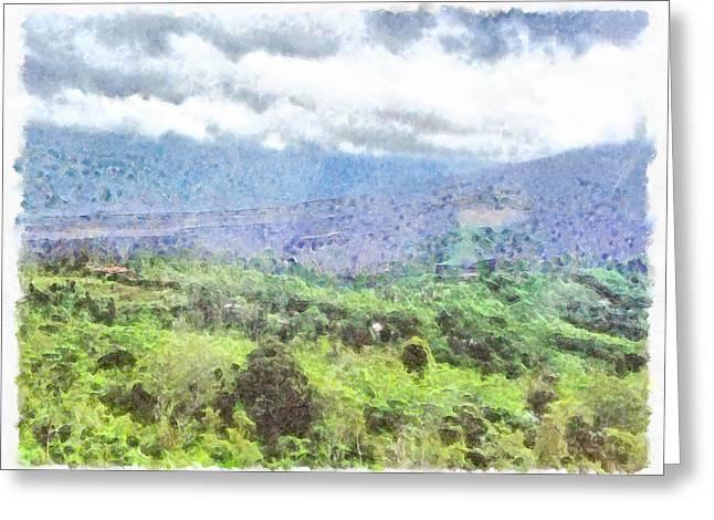 Hilly Viewpoint Greeting Card by Ashish Agarwal