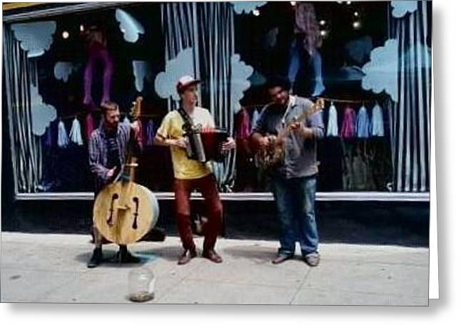 Friends Jamming  Greeting Card by Tammy Brewer