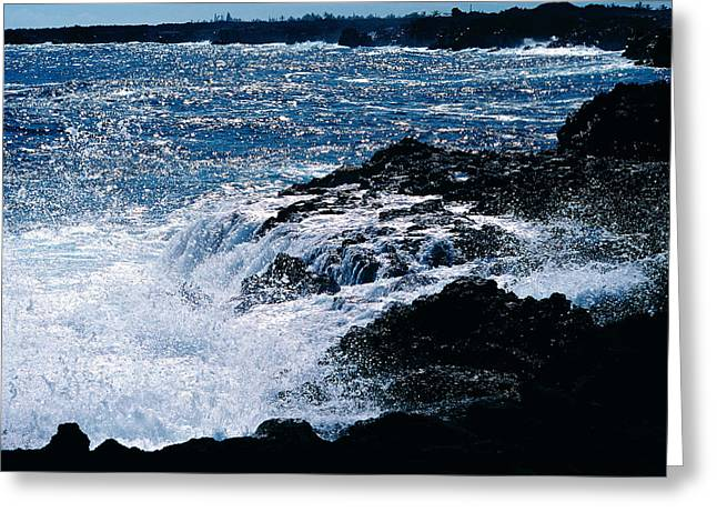 Hilo Coast Waves Greeting Card by Gary Cloud