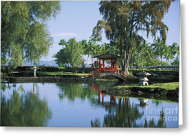 Hilo, Liliuokalani Garden Greeting Card by Ron Dahlquist - Printscapes