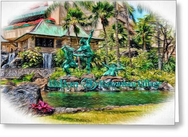 Hilton Hawaiian Village Waikiki Beach Resort Greeting Card