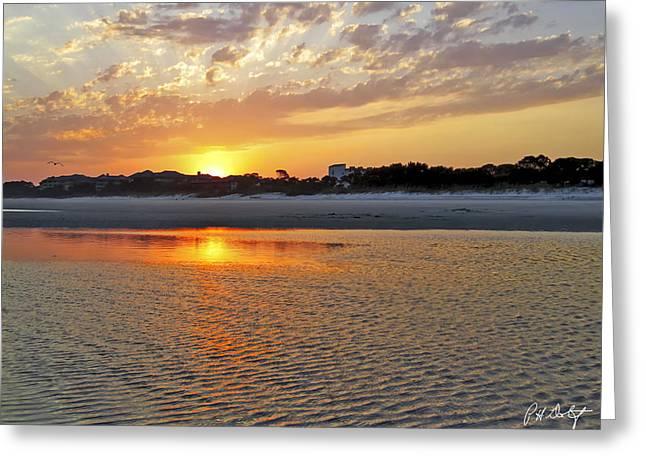 Hilton Head Beach Greeting Card by Phill Doherty
