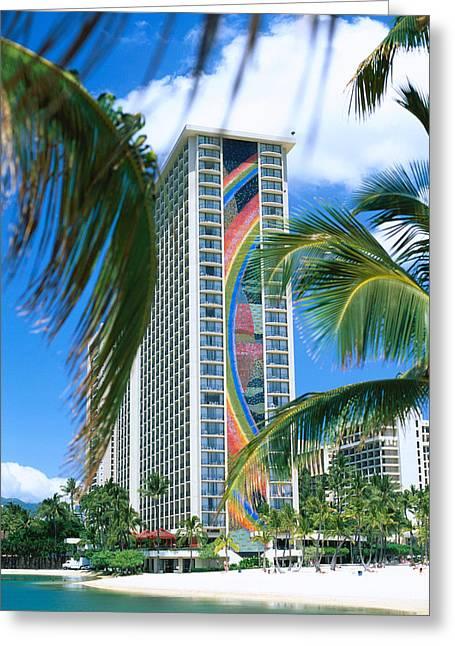 Hilton Rainbow Tower Greeting Card