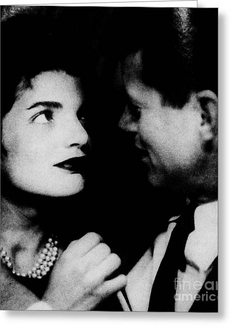 Jackie Kennedy Greeting Cards - Him and Her Greeting Card by Marsha Heiken