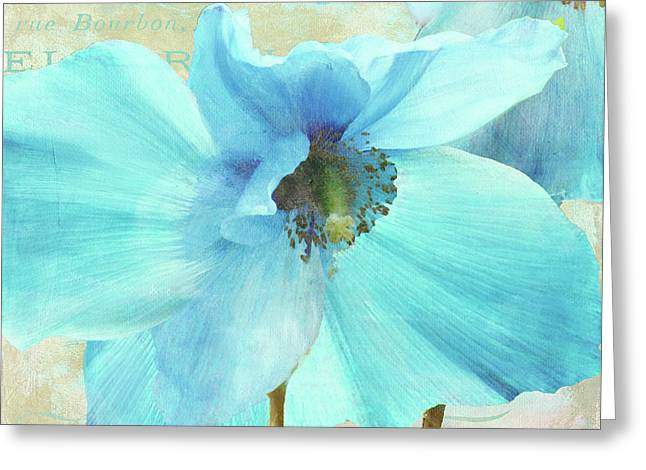 Himalayan Blue Poppy Greeting Card by Mindy Sommers