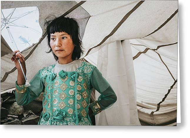 Himalayan Girl Greeting Card