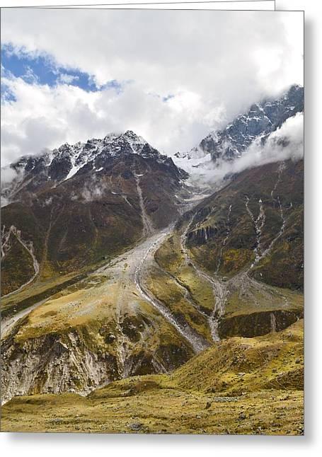 Himalayan Glacier At Badrinath India Greeting Card