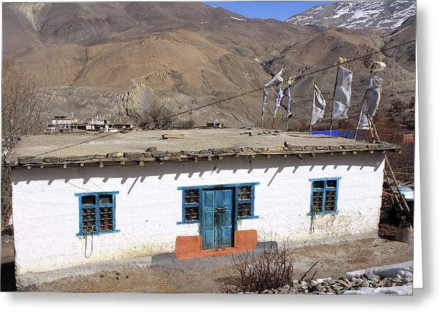 Himalayan Homestead, Muktinath, Nepal Greeting Card