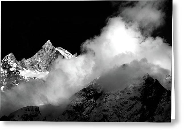 Himalayan Mountain Peak Greeting Card