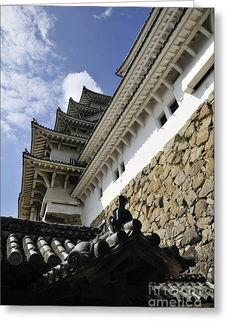 Himeji Castle Tower Greeting Card by Andy Smy