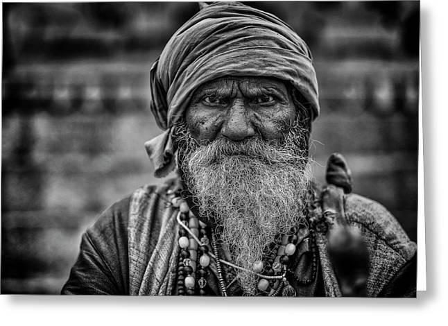 Hindu Holy Man 1 Greeting Card by David Longstreath