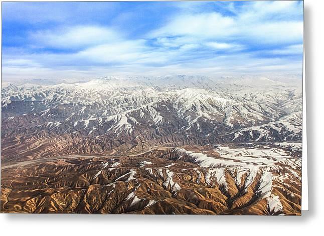 Hindu Kush Snowy Peaks Greeting Card