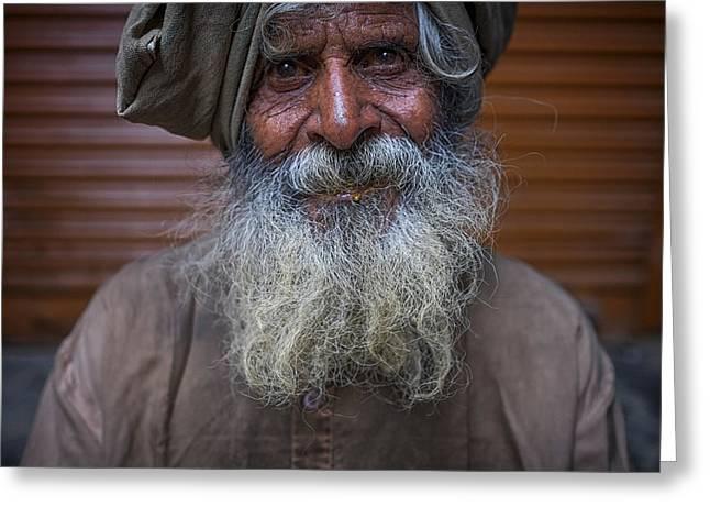 Hindu Man Greeting Card by David Longstreath