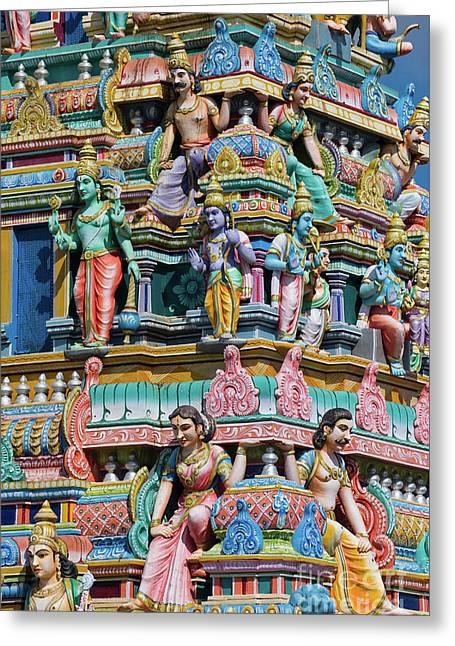 Hindu Temple Gopuram Greeting Card by Tim Gainey