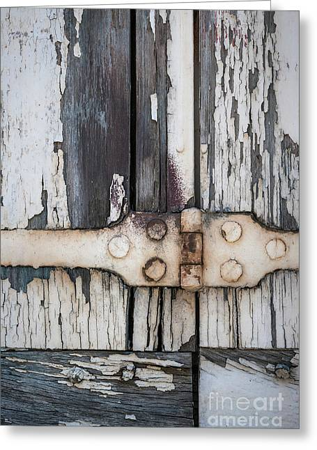 Hinge On Old Shutters Greeting Card