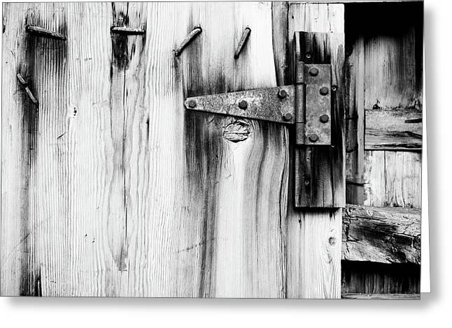 Hinged In Black And White Greeting Card