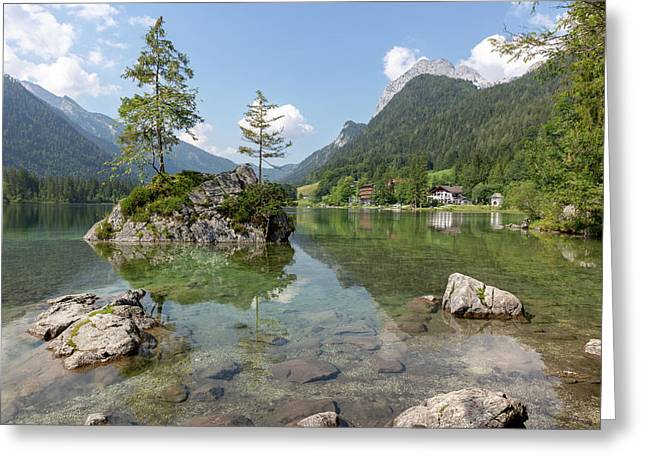 Greeting Card featuring the photograph Hintersee, Bavaria by Andreas Levi
