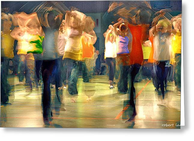 Hip Hop Dance Night Greeting Card by Robert Lacy