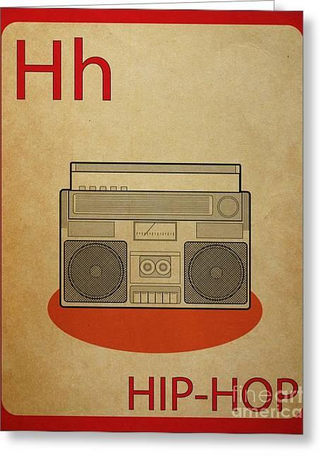 Hip Hop Vintage Flashcard Greeting Card by Mynameisjz JZ
