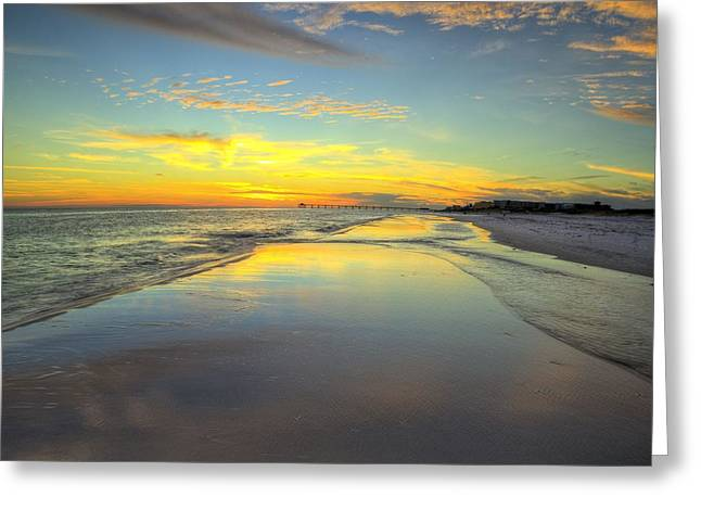 Hip To Be Square In Destin Greeting Card by JC Findley