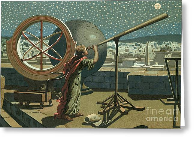 Hipparchus In The Observatory In Alexandria Greeting Card