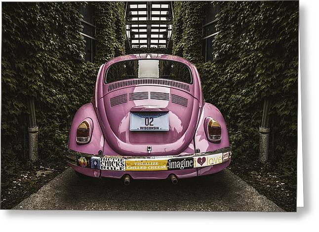 Hippie Chick Love Bug Greeting Card by Scott Norris