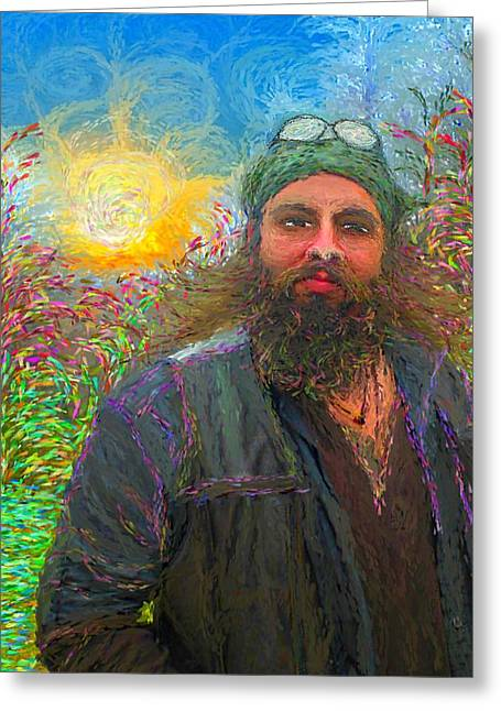 Hippie Mike Greeting Card