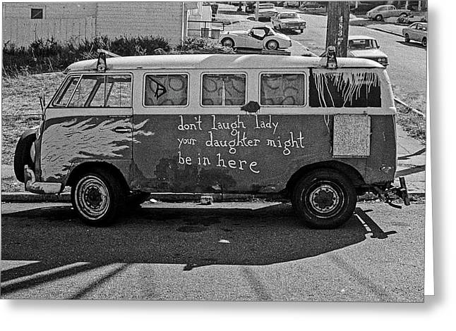 Hippie Van, San Francisco 1970's Greeting Card