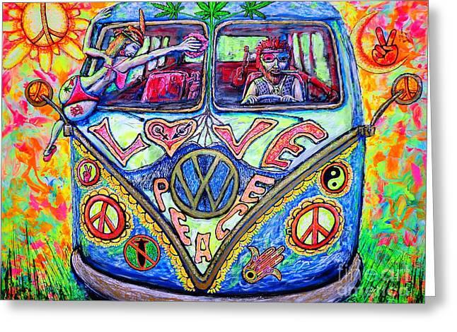 Hippie Greeting Card