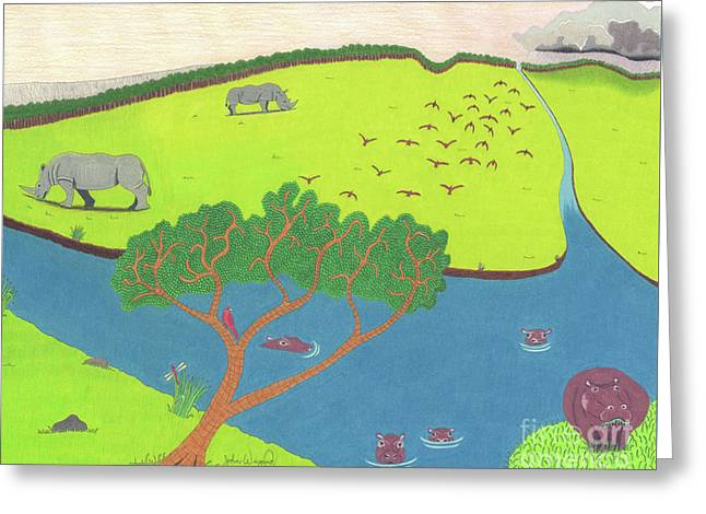 Hippo Awareness Greeting Card