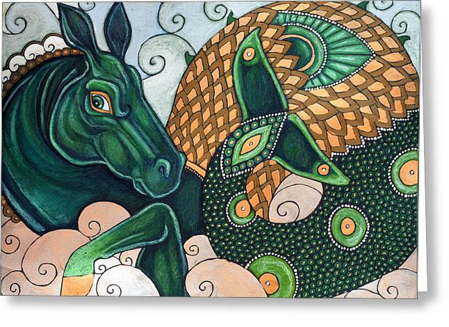 Hippocamp II Greeting Card by Lynnette Shelley