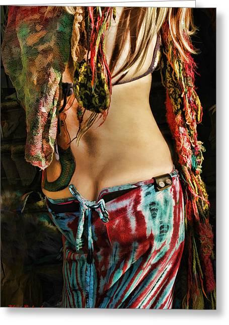 Hippy Back Greeting Card by Blake Richards
