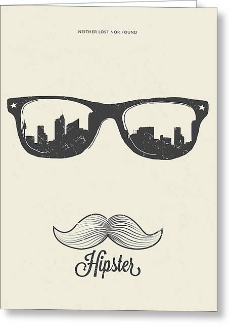 Hipster Neither Lost Nor Found Greeting Card by BONB Creative
