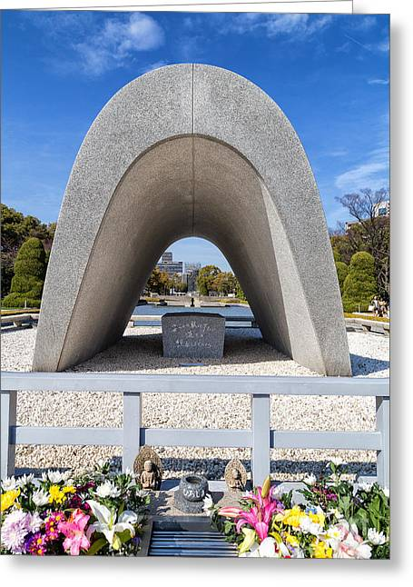 Hiroshima Peace Memorial Park Cenotaph 2 Greeting Card