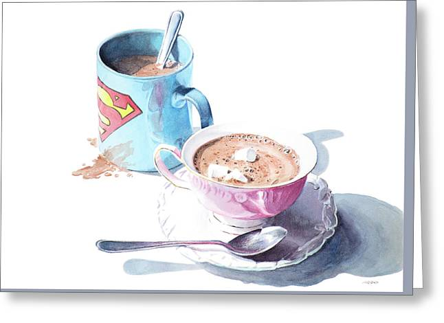 His And Hers Cocoa Greeting Card