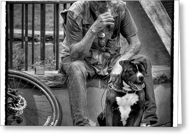 His Best Friend II Greeting Card by David Patterson