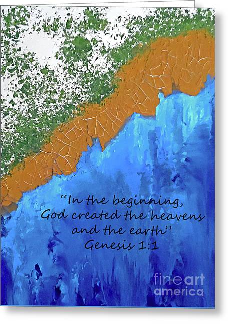 His Creation With Scripture Greeting Card