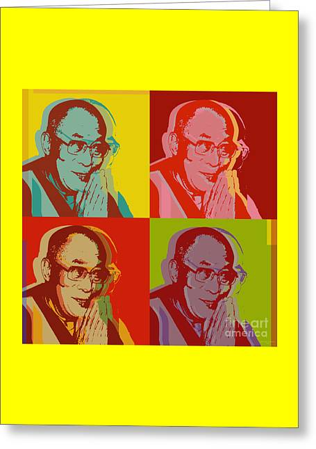 His Holiness The Dalai Lama Of Tibet Greeting Card