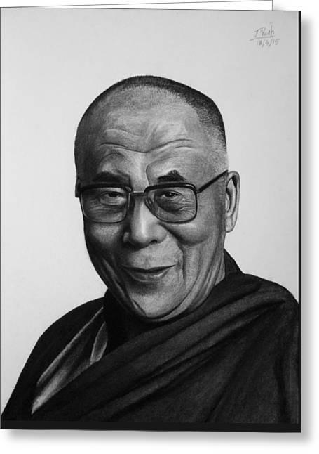 His Holiness The Dalai Lama Greeting Card