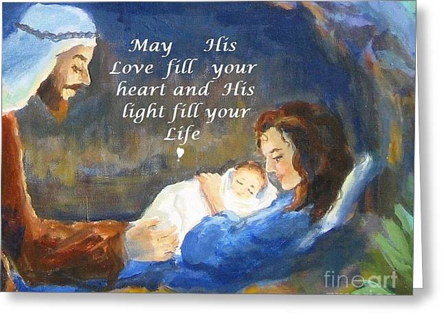His Love And Light Greeting Card