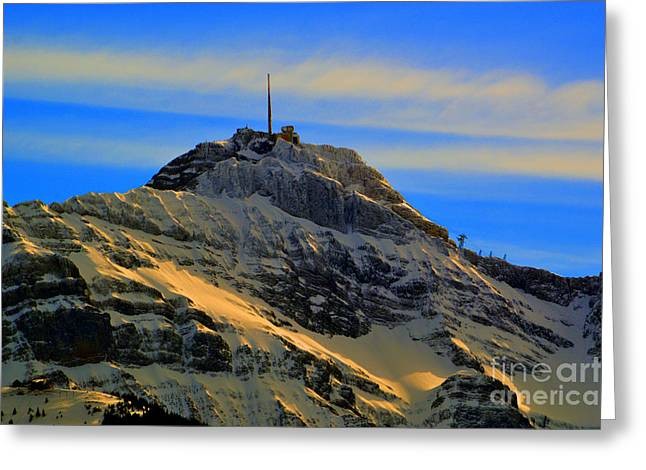 His Majesty - Winter In Switzerland Greeting Card