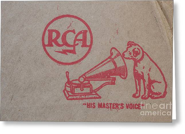 Greeting Card featuring the photograph His Masters Voice Rca by Edward Fielding