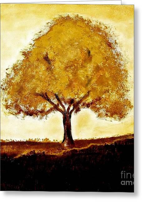 His Tree Greeting Card by Marsha Heiken