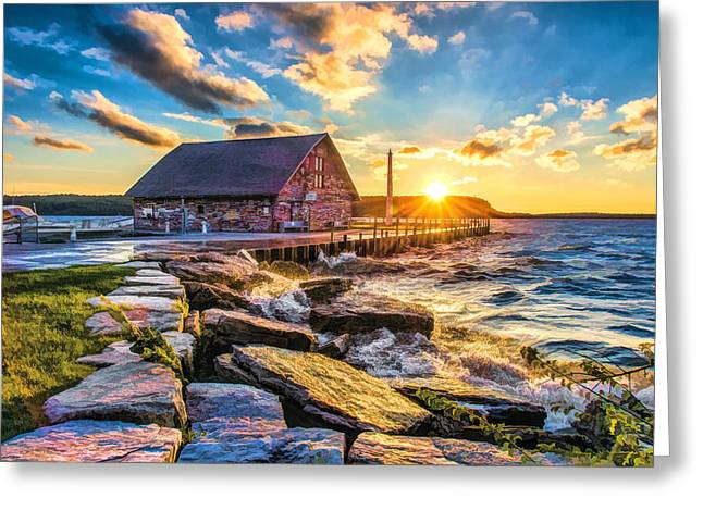 Historic Anderson Dock In Ephraim Door County Greeting Card
